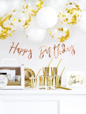 Dzimšanas dienas aksesuāru komplekts, zelta krāsā