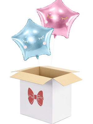 Gift box for balloons - Bow, 60 x 40 x 60 cm