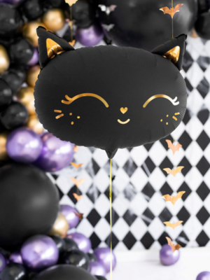 Foil Balloon Cat, black, 48 x 36 cm