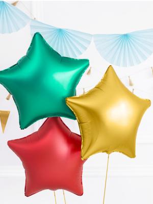 Foil balloon Star, 48cm, gold