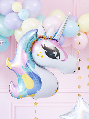 Foil balloon Unicorn, mix,  73 x 90 cm