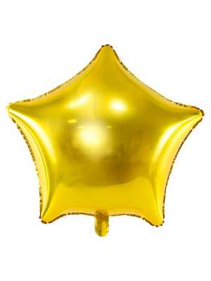 Foil balloon Star, gold, 70cm