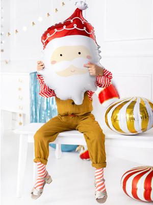Foil balloon Santa, 37 x 60 cm