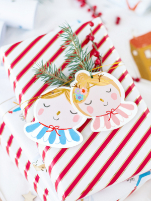 12 шт, Декоративные бирки Рождество, 6-8.5 x 8-10 см