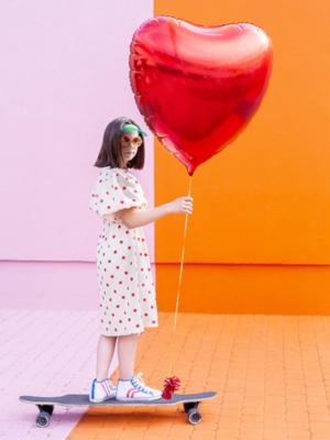 Сердце, красное, 72 x 73 см