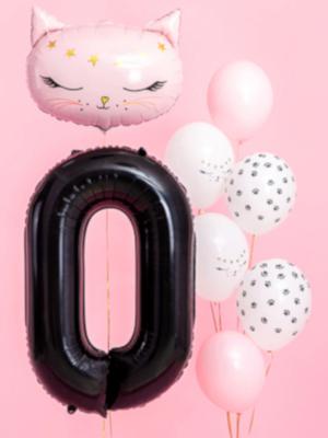 Foil Balloon Number `0`, 86cm, black