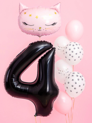 Foil Balloon Number `4`, 86cm, black