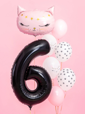 Foil Balloon Number `6`, 86cm, black