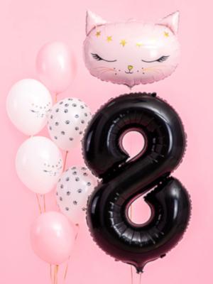 Foil Balloon Number `8`, 86cm, black