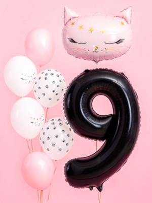 Foil Balloon Number `9`, 86cm, black