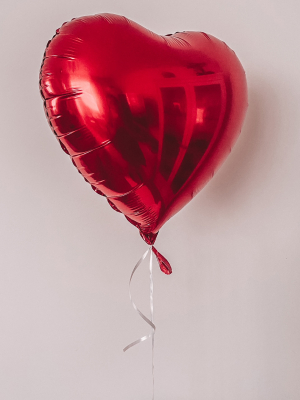 Foil heart balloon with helium, 45 cm