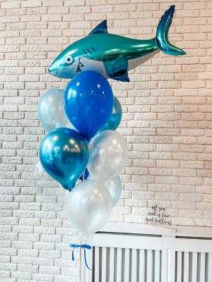 """Hēlija balonu pušķis """"Haizivs"""""""