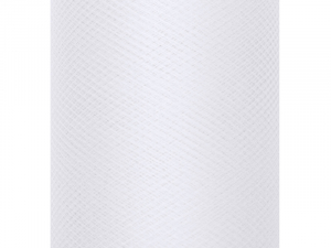 Tulle Plain, Stiff, white, 0.3 x 50m