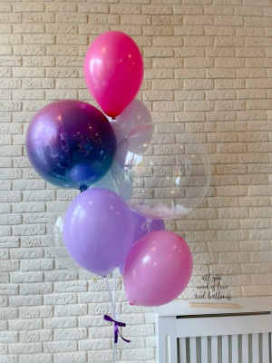 """Balloons with helium """"Crystal Clear Balloon+ Orbz + 7 balloons"""""""