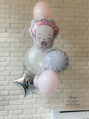"Balloons with helium ""Baby Girl"""