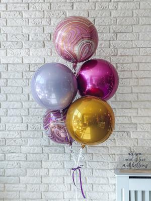 5 Orbz Balloons with helium
