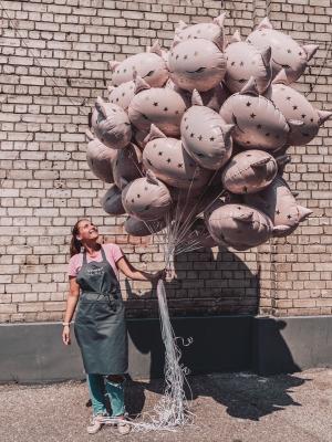 50 Foil Cat Balloons