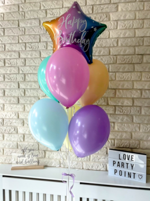 """Balloons with helium """"Happy Birthday"""""""