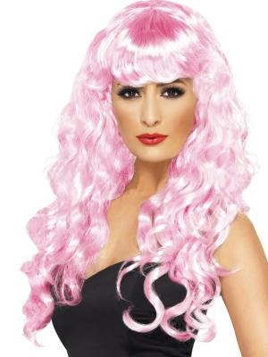 Парик Сирена, розовый