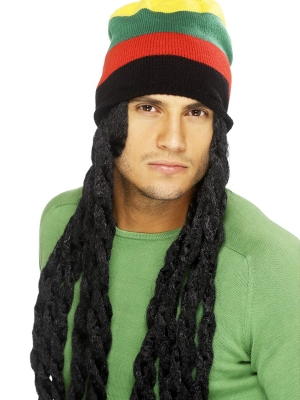 Hat with Dreadlocks