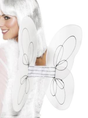 Eņģeļa spārni, balti, 50 x 30 cm