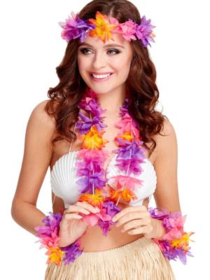 Havaju ziedu virteņu komplekts