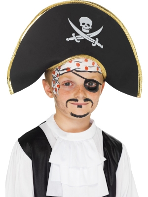 Шляпа пирата, серая