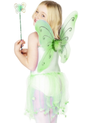 Butterfly set, green, 42 x 38 cm