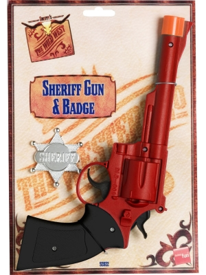 Large Sheriffs Gun and Badge, 27 cm