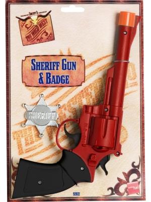 Šerifa pistole un žetons, 27 cm