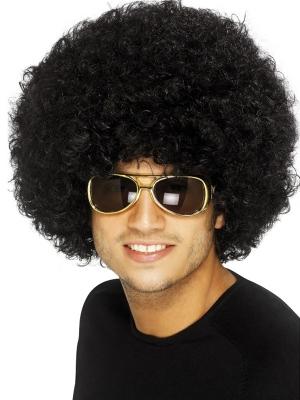 Afro parūka, melna