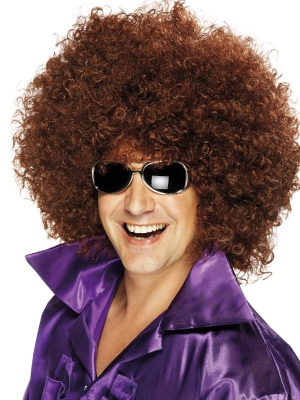 Mega Afro Wig, Brown