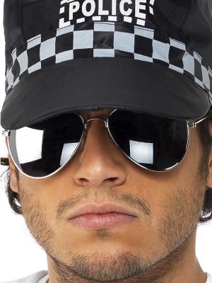 Очки  полицейского, зеркальные