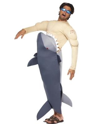 Cilvēka kostīms, kuru apēda haizivs