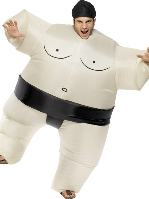 Sumo wrestler inflatable costume
