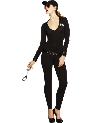 FBI meitenes kostīms, melns