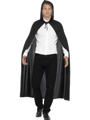 Hooded Vampire Cape Black