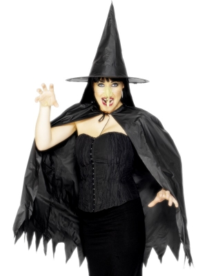 Witch Set with Cape Hat and Nose