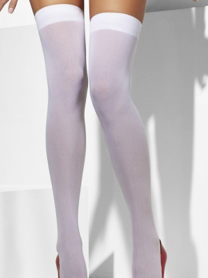 OStockings, white, 40 denier