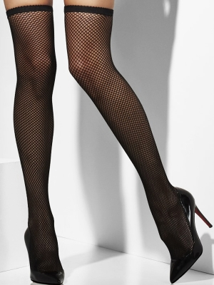 Stockings, black net
