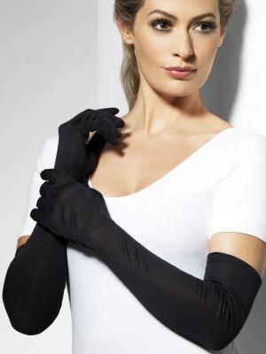 Перчатки, черные, 52 см