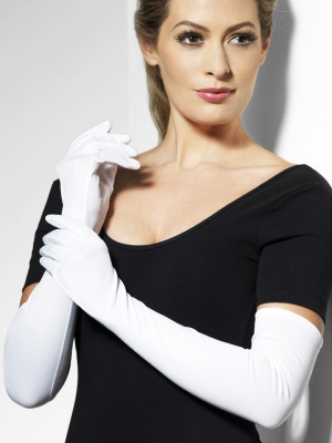 Gloves, white, 52 cm