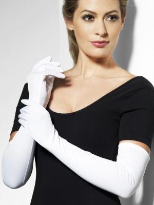 Перчатки, белые, 52 см