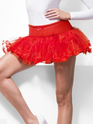 Tulle Petticoat, red