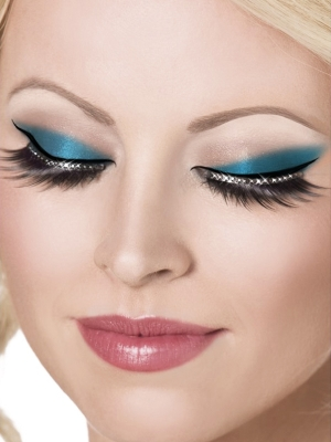 Eyelashes, with Black Crystals