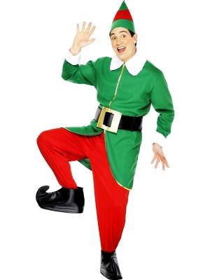 Elfa kostīms, sarkans ar zaļu