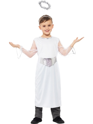 Angel Costume with Dress Belt and Halo
