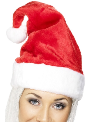 Luxury Santa Hat Velvety with Fur