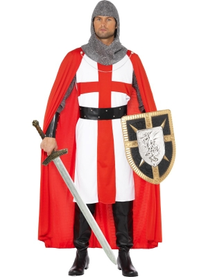 Sv. Georga kostīms, sarkans un balts