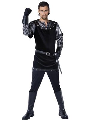 Viduslaiku šerifa kostīms, melns